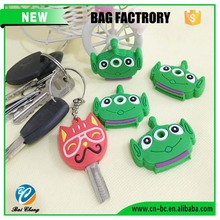 cheap custom plastic rubber key cover with logo