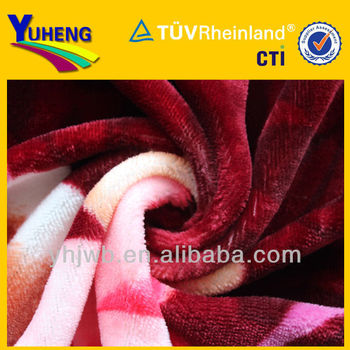 make-to -order soft polyester flannel fabric for blanekt wholesale of china textile