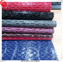 PVC Woven Backing Synthetic Leather Materials