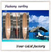 2016 new full wooden surfboard longboard made in China