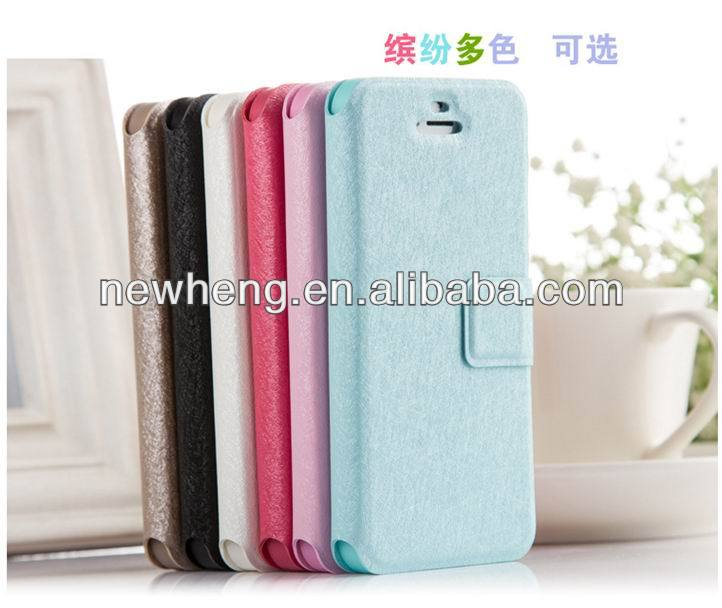 silk stand book leather case for iphone 4 4s