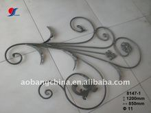 decorative wrought iron stair railing parts