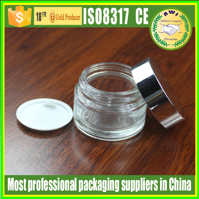cosmetic packaging glass mark jar 50ml jar glass with private label for skin care use