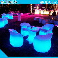 Design for party event RBG color changeable outdoor waterproof led flower bar table