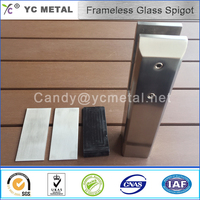 YC METAL square mirror swimming glass pool fencing clamp