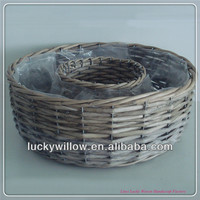 factory supplier bardian wicker flowerpot garden basket