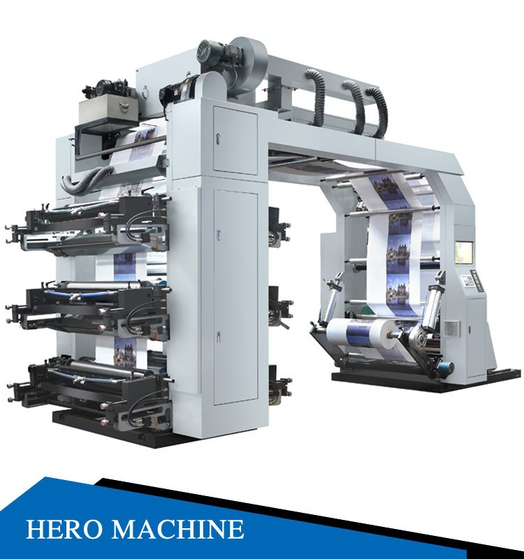 HERO BRAND 4 color Non Woven Bag Printing Machine