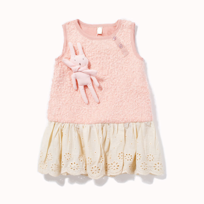 Children's clothing 2013 baby autumn female child skirt child tank dress autumn and winter one-piece dress pink