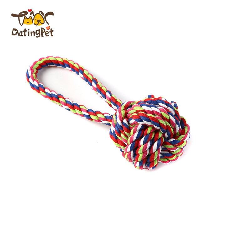 Durable Pet Dog Cat Rope Cotton Rope Chew Toys For Training