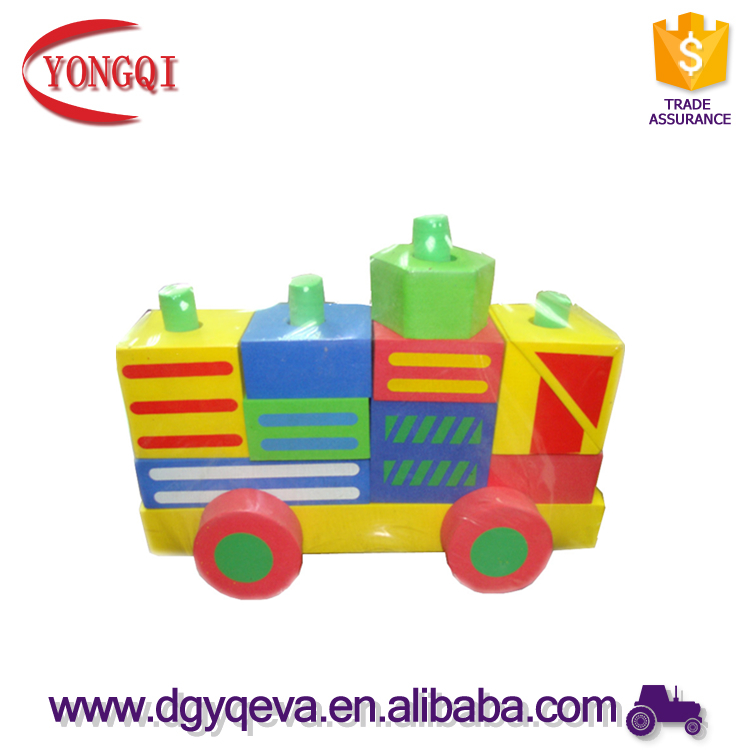 Eva Foam Building Blocks Car Model Educational Toys for Kids