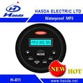 Multifunction Best selling Marine Waterproof MP3 player with Bluetooth H-811 for suanna room, bathroom,boat and motorcycle