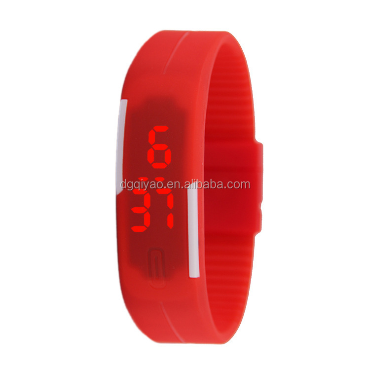 Free Sample fashion silicone wrist watch LED wholesale /Promotional Touch Screen watchband watch
