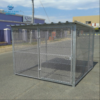 heavy duty security type galvanized dog kennel