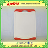 New design home used plastic cutting board material non skid handle wiht hig quality