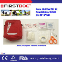 Wholesale Mini Waterproof Travel Medical Handle Emergency first aid bag kit with contents list supplier with ISO CE FDA TuV