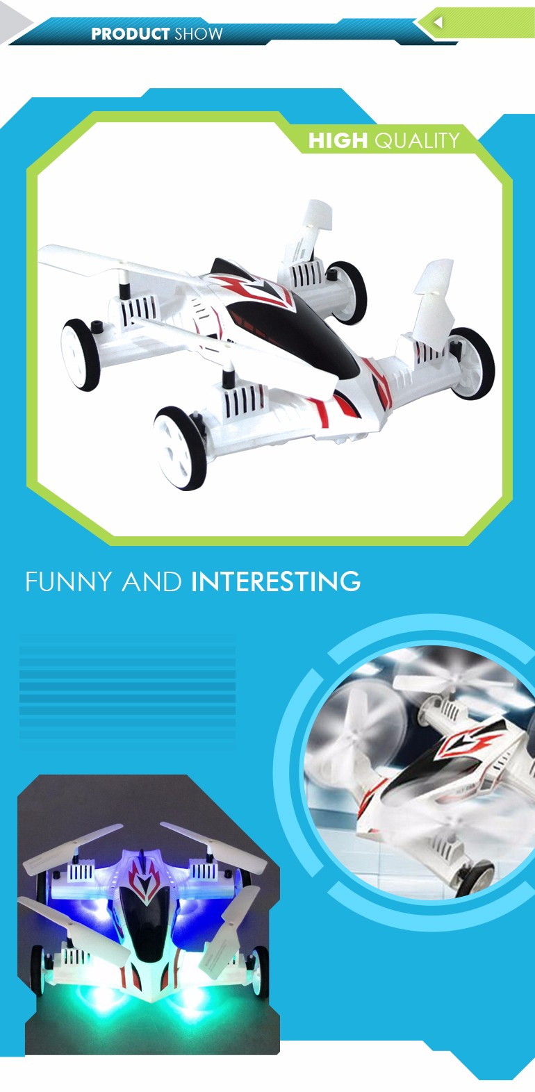 Hot sale low china price dual mode remote control helicopter car toy go drone for children