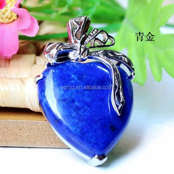 Europe and America hot sell pendant silver pendant natural lapis lazuli heart pendant