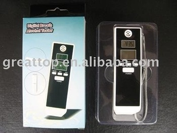 Dual lcd digital alcohol tester - ALT-13-2