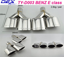 Racing car parrts dedicated muffler tips for b-enz e class exhaust pipe
