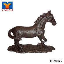 DECORATIVE METAL HORSE FIGURINE