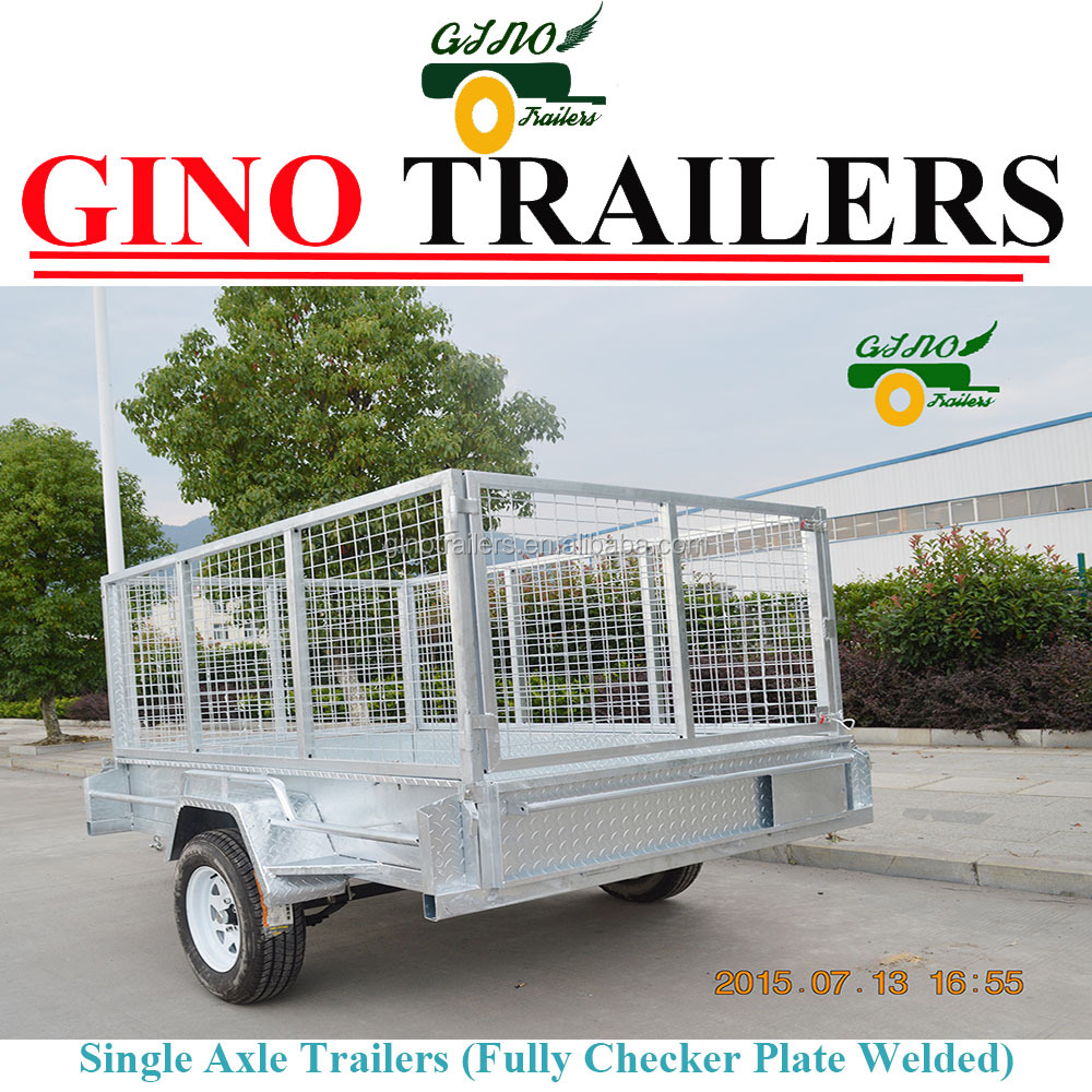 General Purpose Galvanised Steel 7X5 Caged Cage Mesh Trailer