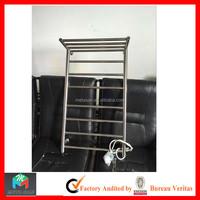 Hotel Bathroom Stainless Steel 304 Electric Heated Towel Holder / Shelf Towel Rack rail