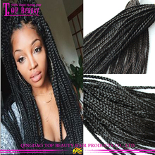 Hot selling human hair 6A virgin peruvian twist braiding hair