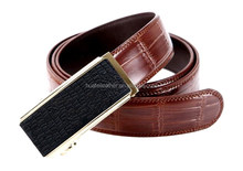 High quality utomatic buckle crocodile leather belt for mens,famous brand leather men belt ,crocodile leather men belt