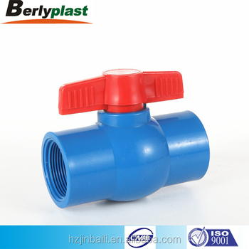 manufacturer pvc plastic male thread ball valve 4 inch