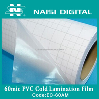 60mic glossy pvc cold lamination film roll for protecting photo paper