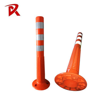 warning pvc flexible safety spring post