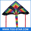 Triangle Colored Kites Flying Rainbow Kite
