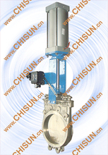 paper making pneumatic Knife Gate Valve QBZ673X-10C-DN300