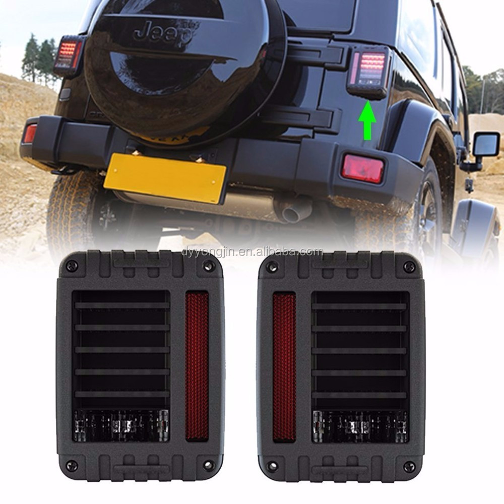 07-16 for Jeep Wrangler JK led tail light 4x4 off road running turn brake reverse rear lamp jeep led tail light