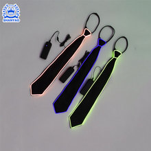 Fashion Flashing party gift light up el wire bow tie