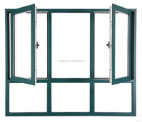 insulted aluminium and glass casement European style design frame window
