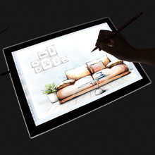 LED Artist Stencil Board Tattoo Drawing Tracing Table Light Box Pad