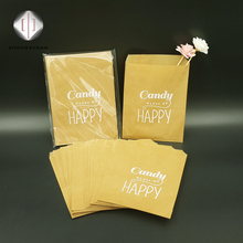recycled custom valve top mini brown craft paper bag for cookies/candy/chocolate