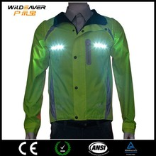 led fashionable outdoor mens waterproof jacket