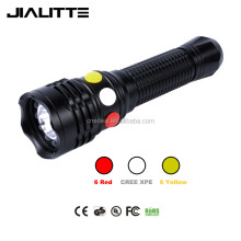 Jialitte F022 CREEs XPE Q5 LED Red White Yellow Railway Signal lamp flashlight