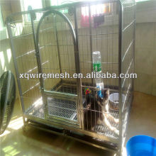large pvc coated dog cage /firm dog cage with plastic pallet