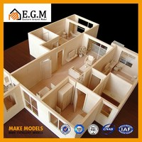 wooden architecture house plan model