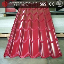 various types of roof tiles/galvanized steel roof tile sheet