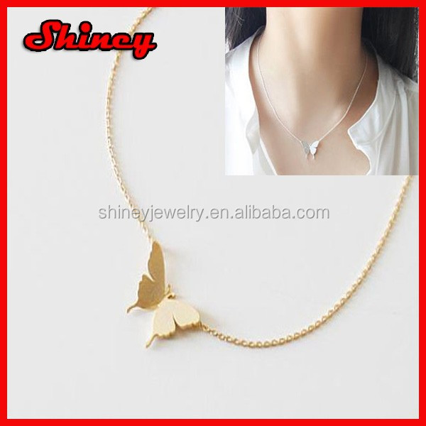 925 sterling silver 18k gold plated women butterfly essential oil pendant necklace wholesale