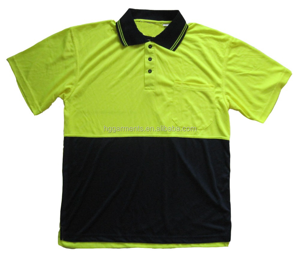 Qiuk Dry Hi Vis Work Polo Shirt