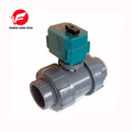 CTF-001 DN25 1 inch UPVC Double union thread DC12V CR01 2 way Electric Ball Valve without manual override