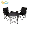 Portable folding camping table and chairs set,folding canvas camping table