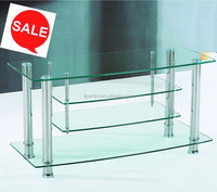 cheapest tempered glass stainless steel leg TV stand