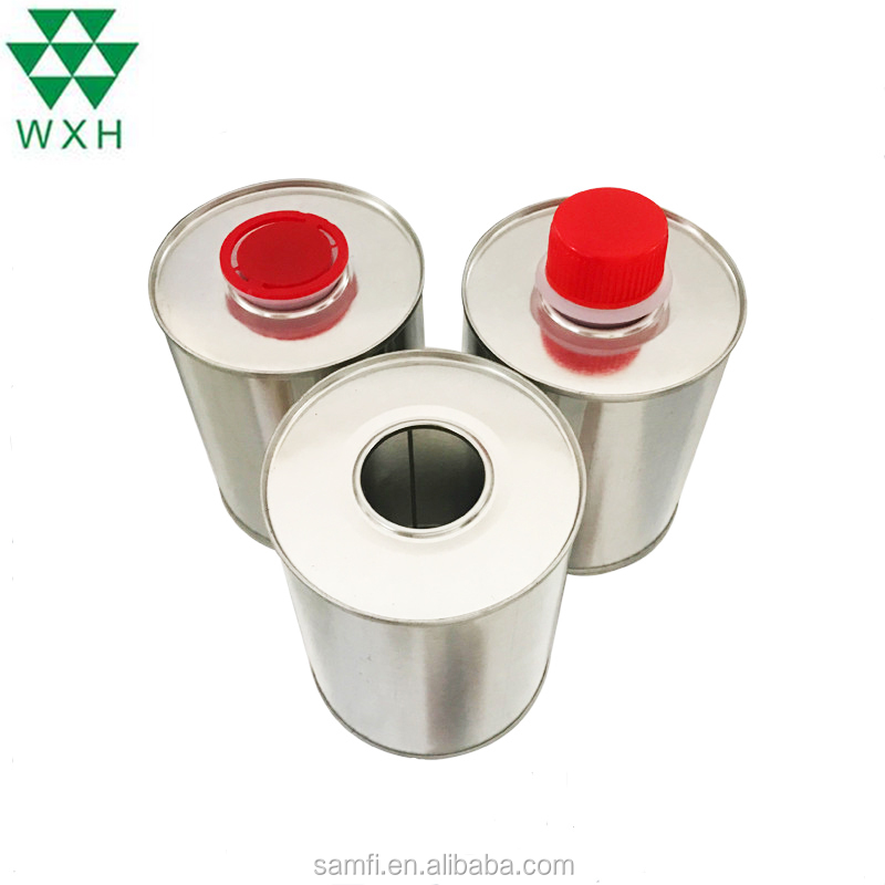 1L round metal tin can/box engine oil cans for canning