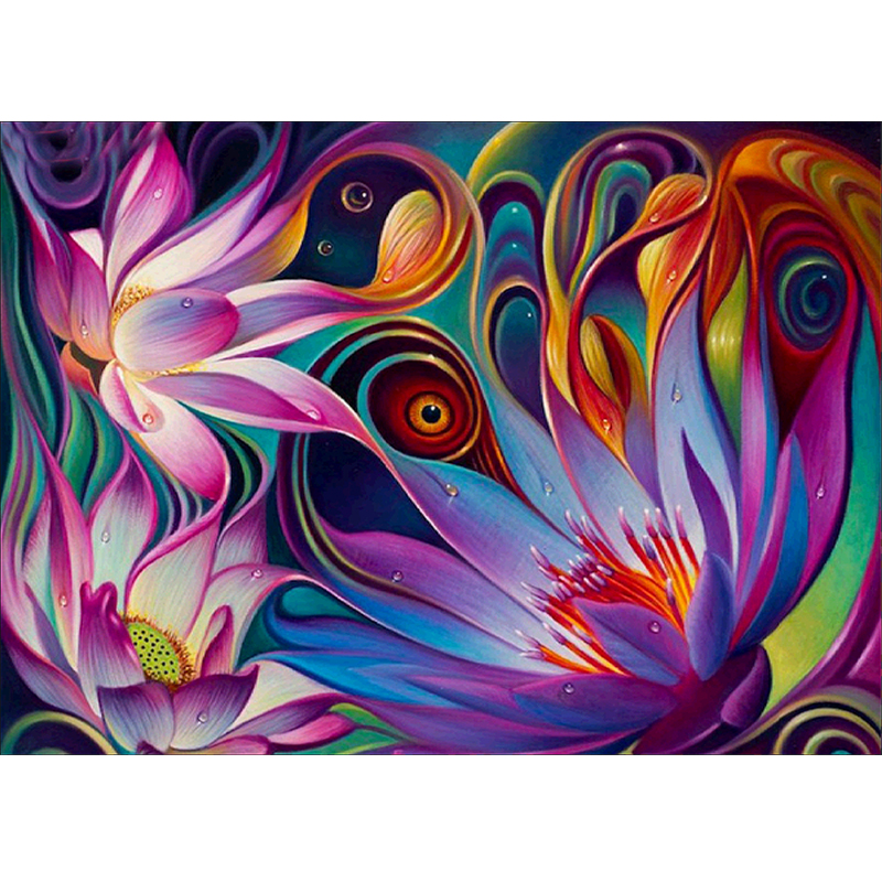 Abstract flower painting pictures to hang on wall modern european <strong>art</strong>